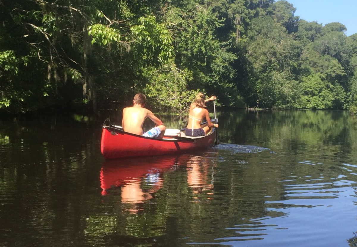 Canoeing in Florida.